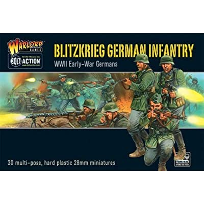 Bolt Action Blitzkrieg! German Infantry Figures 1:56 WWII Military Wargaming Plastic Model Kit: Toys & Games