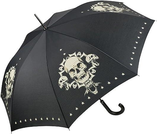 VON LILIENFELD Paraguas Automática Mujer Motivo Arte Hombes Cráneo Skull: Amazon.es: Equipaje