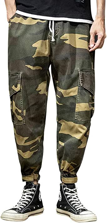 Alalaso Men Trousers Linen Style Casual Breathable Outdoor Solid Sportswear Bamboo Knit Sleep Bottoms Casual Lounge Pants