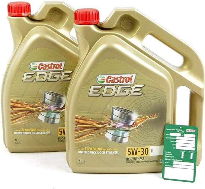 2 X 5 L 10 L Castrol Edge Fluid Titanium 5w 30 Ll Engine Oil Auto
