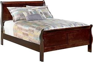 Ashley Furniture Signature Design - Alisdair Traditional Sleigh Bedset - Full Size Bed - Dark Brown