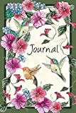 Watercolor Hummingbird Journal for Songwriting Pink Pretty Flowers Notebook for Women 6x9