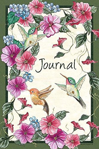 Watercolor Hummingbird Journal for Songwriting Pink Pretty Flowers Notebook for Women 6x9 by Posies And Such