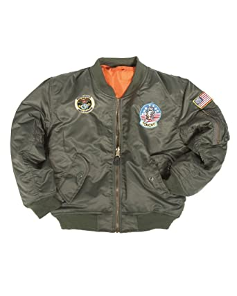 Mil-Tec Kids MA1 Jacket Patches New Children Army Airforce Flight Pilot  Bomber  Amazon.co.uk  Clothing 7f3de8567a