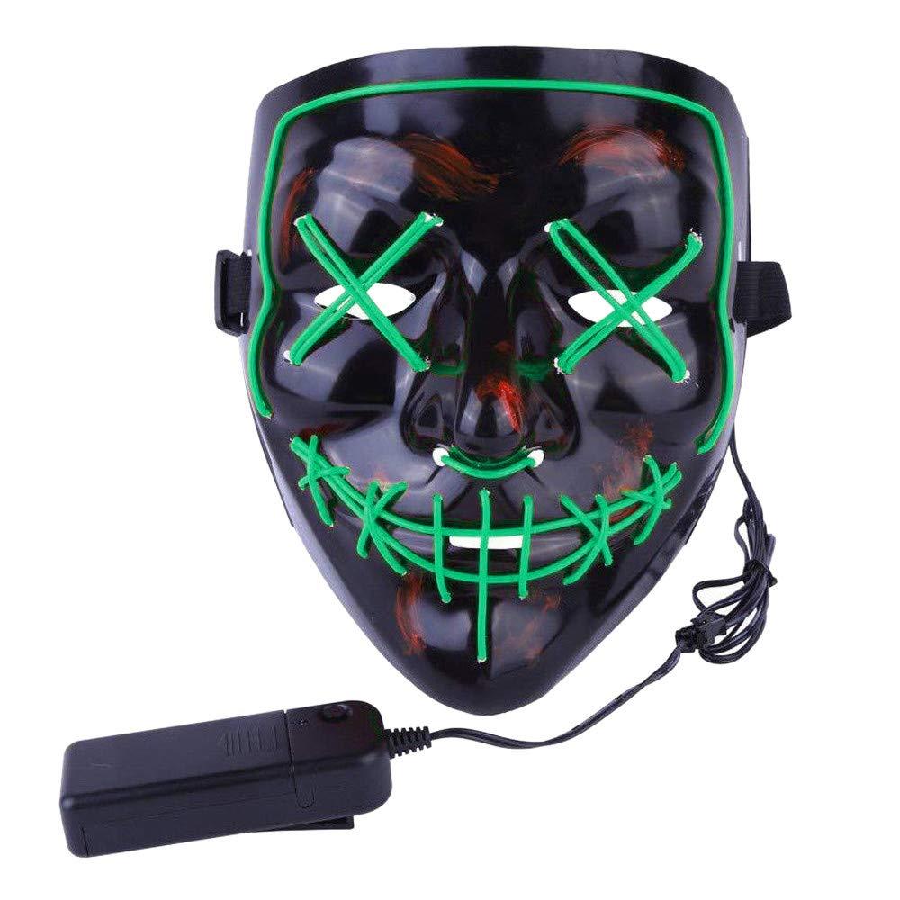 Mascara Halloween LED, Zolimx Adultos el Led Mask de Accesorio para Halloween/ Navidad Cosplay Cartoon Payaso Máscara de Terror para Party Night Club ...
