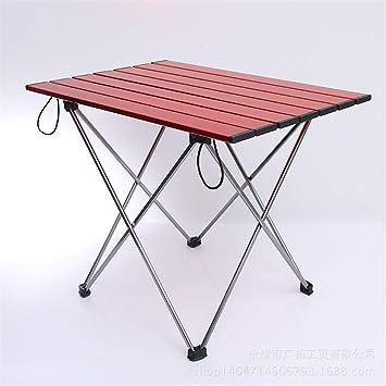 MM&KK Muebles de Camping pequeñas mesas Plegables de Barbacoa Lateral Mesa de Mahjong al Aire Libre