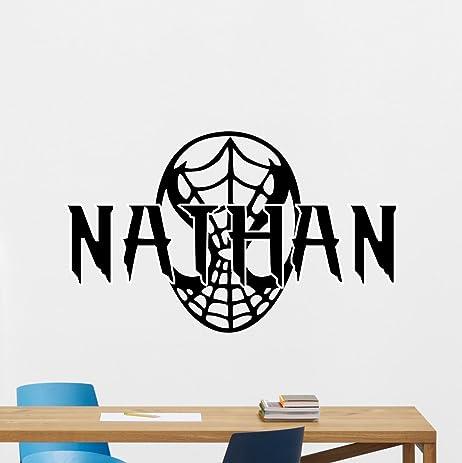 Personalized Spiderman Wall Decal Marvel Comics Mask Logo Emblem - Custom vinyl wall decal equipment