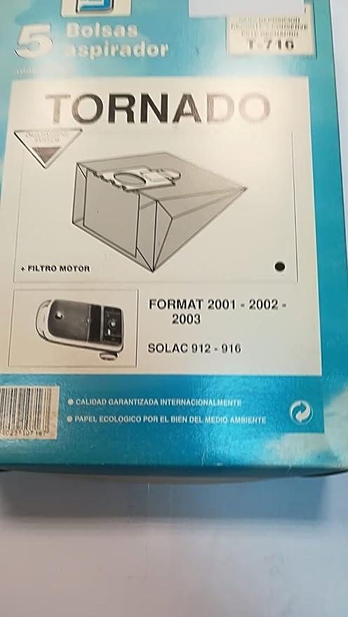 Taurus Bolsas Aspirador COMPATIBLES Tornado Format: Amazon.es: Hogar