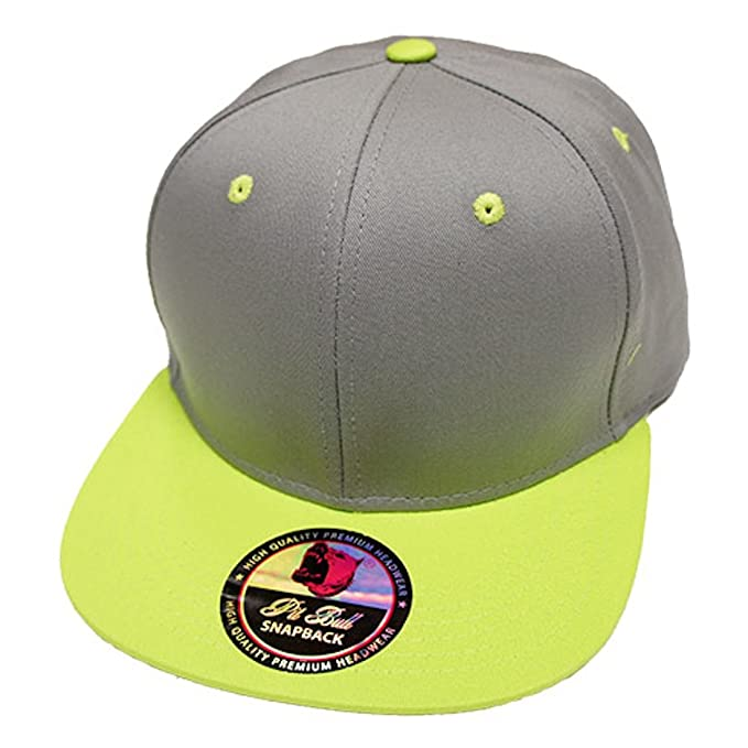 462a5bd7679 Plain Solid Two-Tone Flat Bill Snapback Quality Cotton Hat - Hip Hop  Baseball Cap