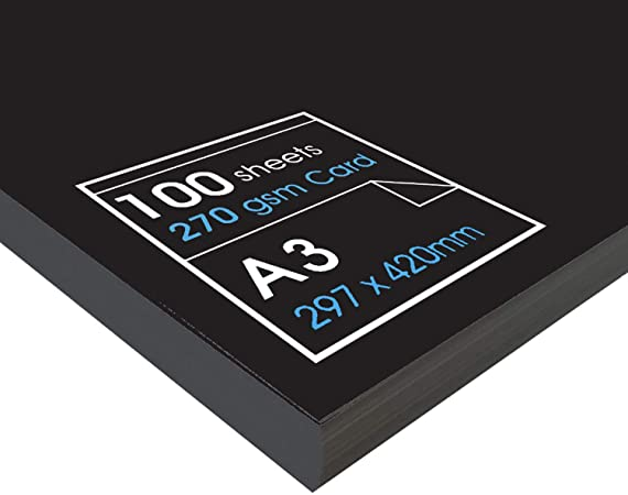 Artway Enviro Recycled A3 Black Card 270gsm - 100 Sheets: Amazon.co.uk: Kitchen & Home