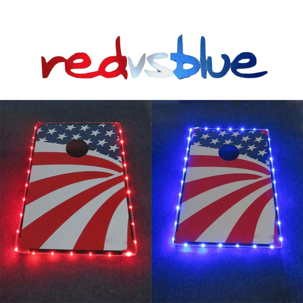 Mixed Color Cornhole Edge Lights Led Lighting kit Last for 72+ Hours on 3 AA Batteries (not Included) by 321 Lights