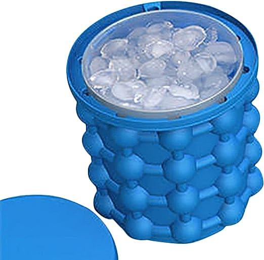 Cubo de silicona para hacer cubitos de hielo con tapa y molde ...