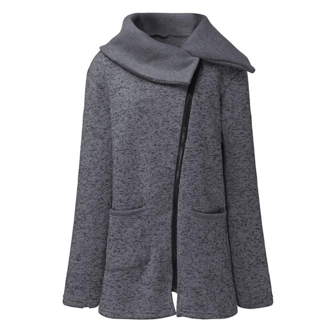 Damen Mantel Sannysis Damen Freizeitjacke Winterjacke Fell Wintermantel Warmer mit Kapuze Jacke Lange Reißverschluss Sweatshirt Outwear Tops amonfineshop
