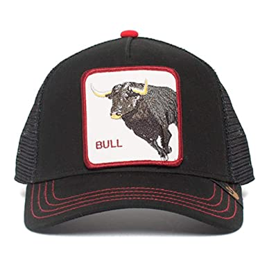 6b1b161dadc226 Goorin Brothers Unisex Animal Farm Snap Back Trucker Hat Black Bull Honky  One Size