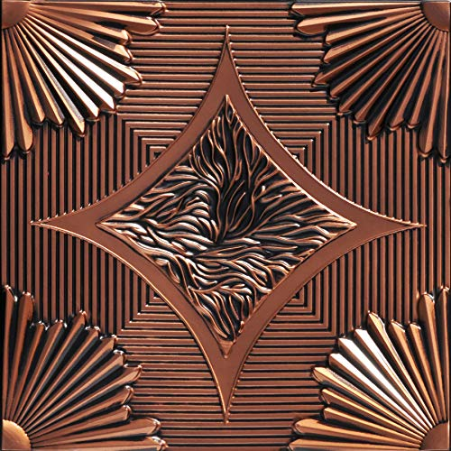 From Plain To Beautiful In Hours 201ac-24x24 Ceiling Tile, Antique Copper