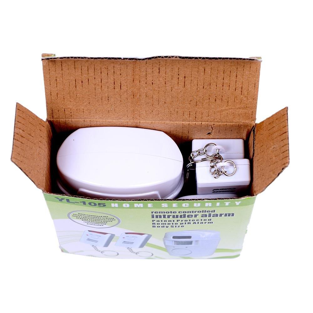 2 ideal para el hogar incluye 2 mandos a distancia Alarma inal/ámbrica con sensor de movimiento garaje o autocaravanas
