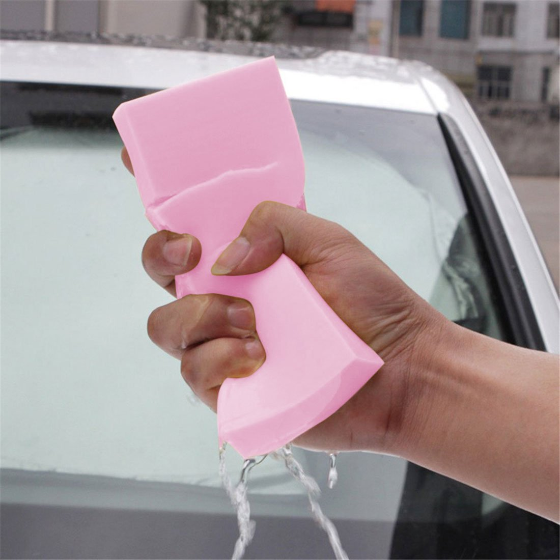 uxcell Car Boat Cleaning Clear PVA Suction Sponge Block for Cleaning Pink