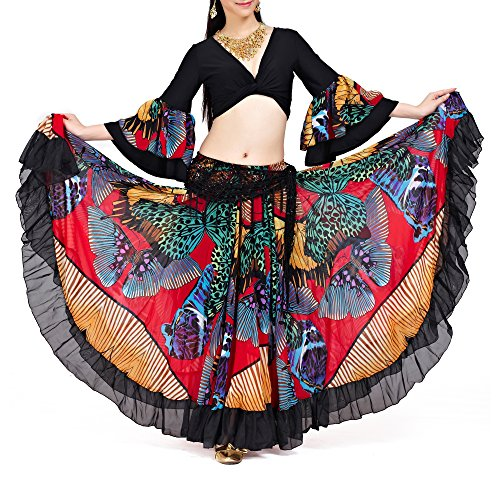 Turkish Belly Dancing Costume - BellyLady Belly Dance 25 Yard Tribal Gypsy Skirt, Turkish Belly Dance Costume