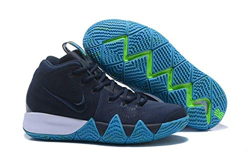 kyrie 4 navy and white