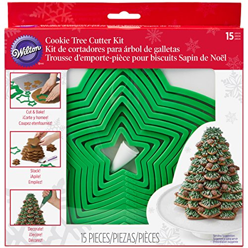 Wilton Gingerbread Cookie Tree Cutter Set (Cookies Christmas Tree)