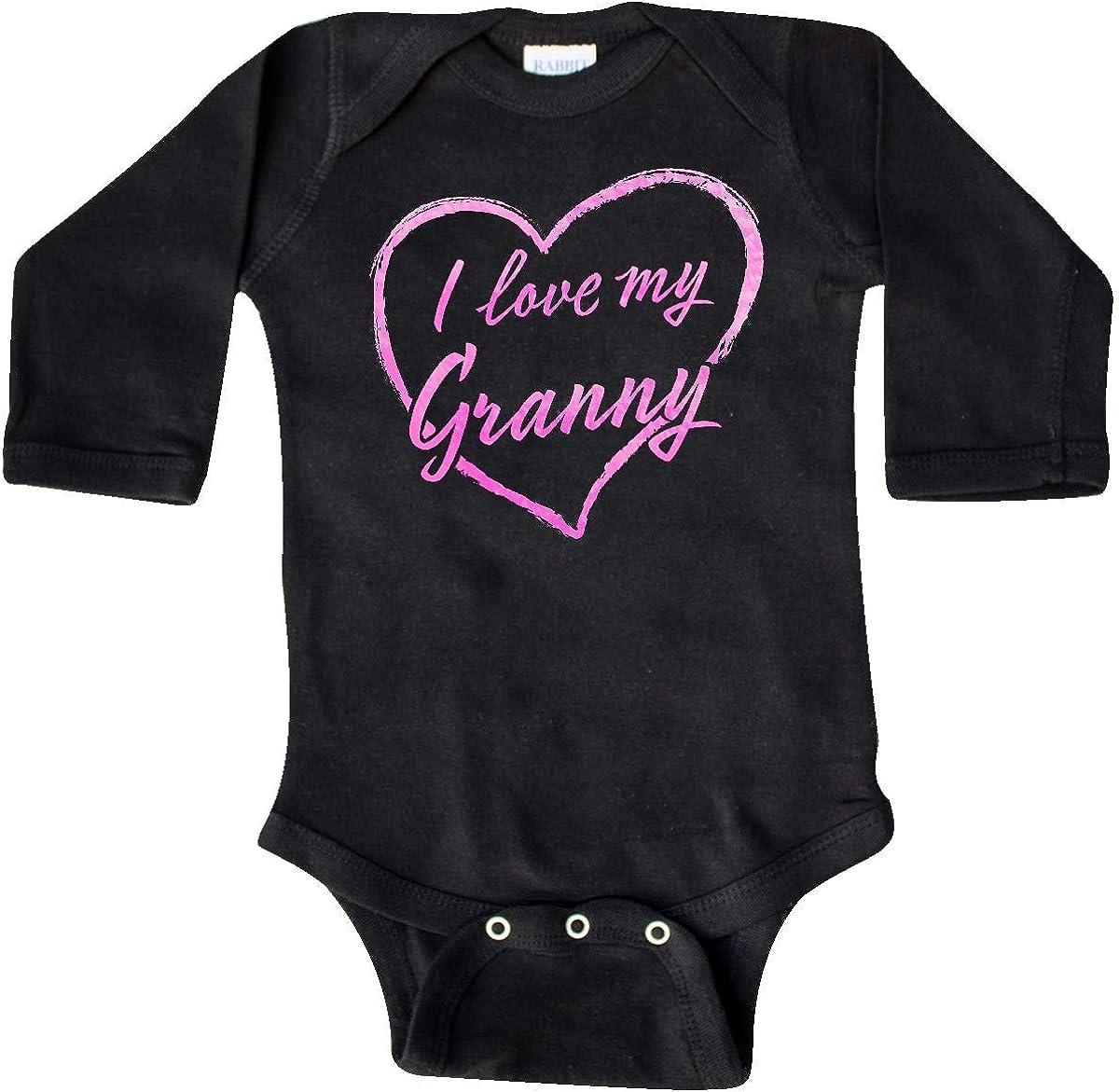 inktastic I Love My Granny in Pink Chalk Heart Long Sleeve Creeper