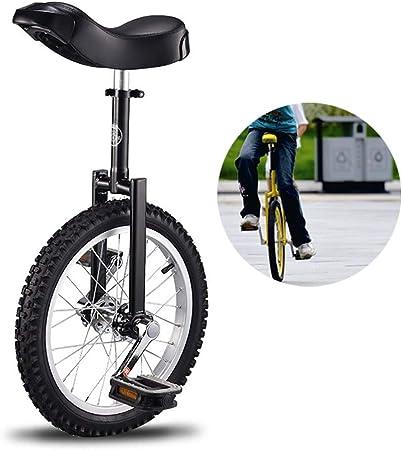 LIfav Monociclo De 20 Pulgadas, Cómodo Sillín De Goma para El Equilibrio Ejercicio De Entrenamiento Bicicleta De Calle Bicicleta De Carretera, Adecuado para Personas De 1,6 A 1,75 Metros,Negro: Amazon.es: Hogar