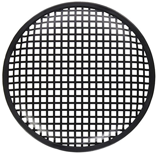 American Terminal Pair of 10 Inch 10 Universal Metal Car Audio Speaker Subwoofer Waffle Grill Protector Cover with Clips and Screws