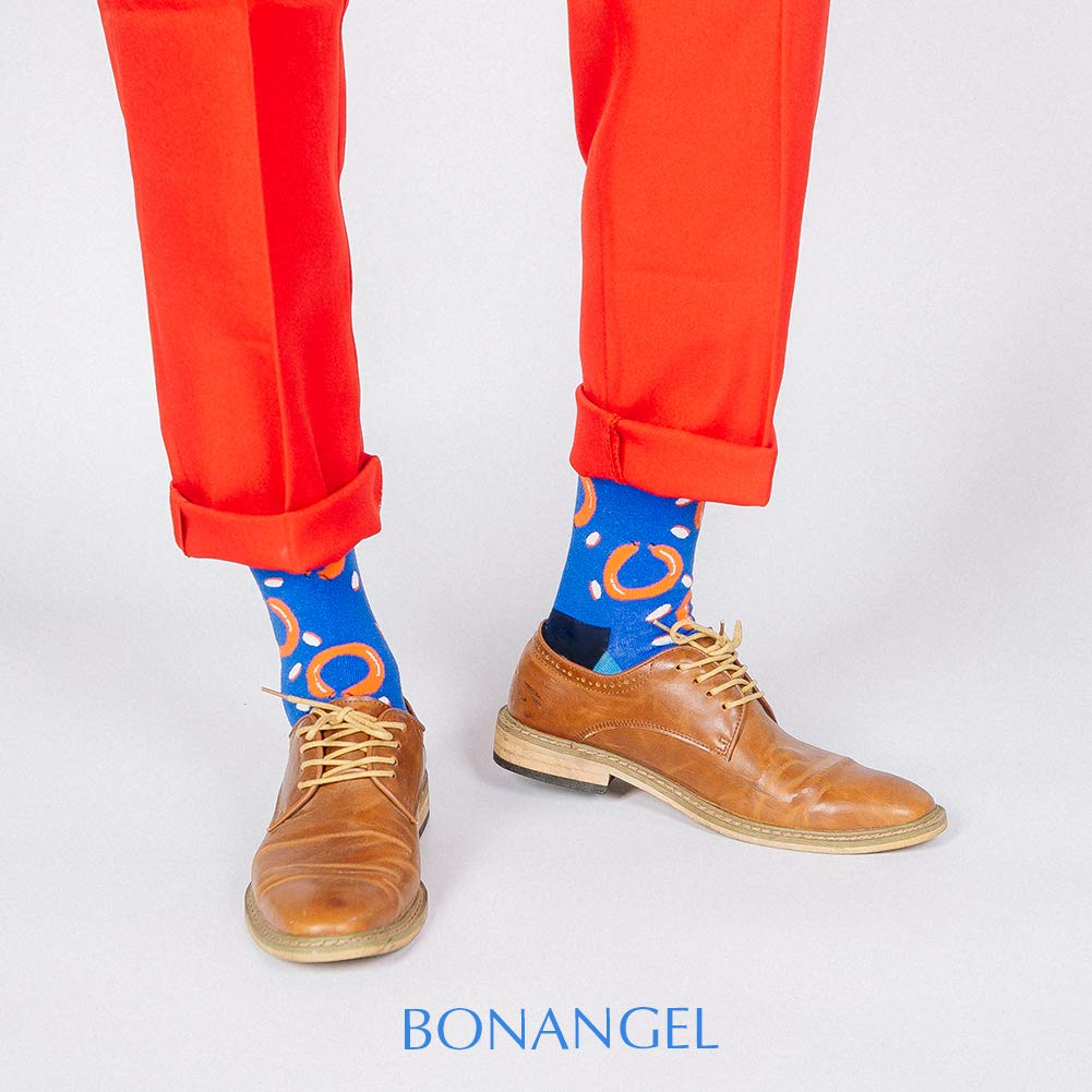 Dress Socks for Men & Women,Colorful Funny Crazy Novelty Fun Dress Socks Pack by Bonangel,Cool Pattern Crew Socks With Gift Box