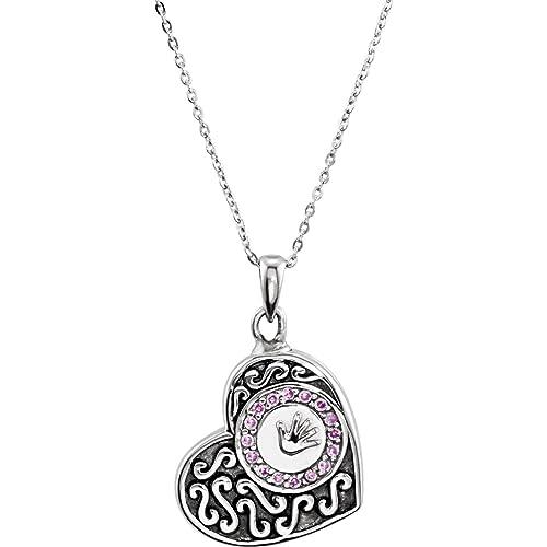 Bonyak Jewelry Sterling Silver /& CZ Necklace