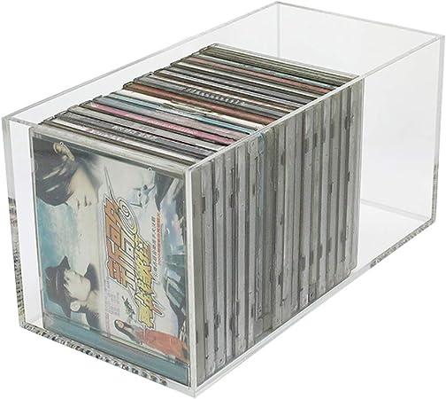 GWXJZ Estanterías para CD DVD Caja de Almacenamiento de CD Transparente, Álbum Colección Cinta Acrílico Soporte de exhibición, A Prueba de Polvo CD Car Disc Organizer Holder, L30 * W15 * H15cm: