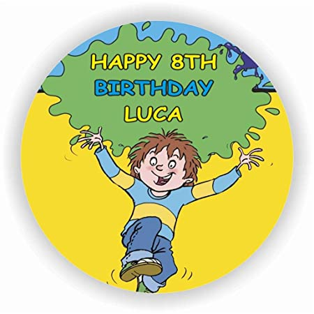 Birthday Bazaar Horrid Henry Cake Topper A4 Icing Amazoncouk Kitchen Home
