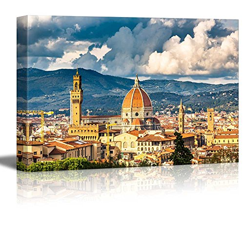 View on Florence and Duomo Cathedral Italy Wall Decor ation