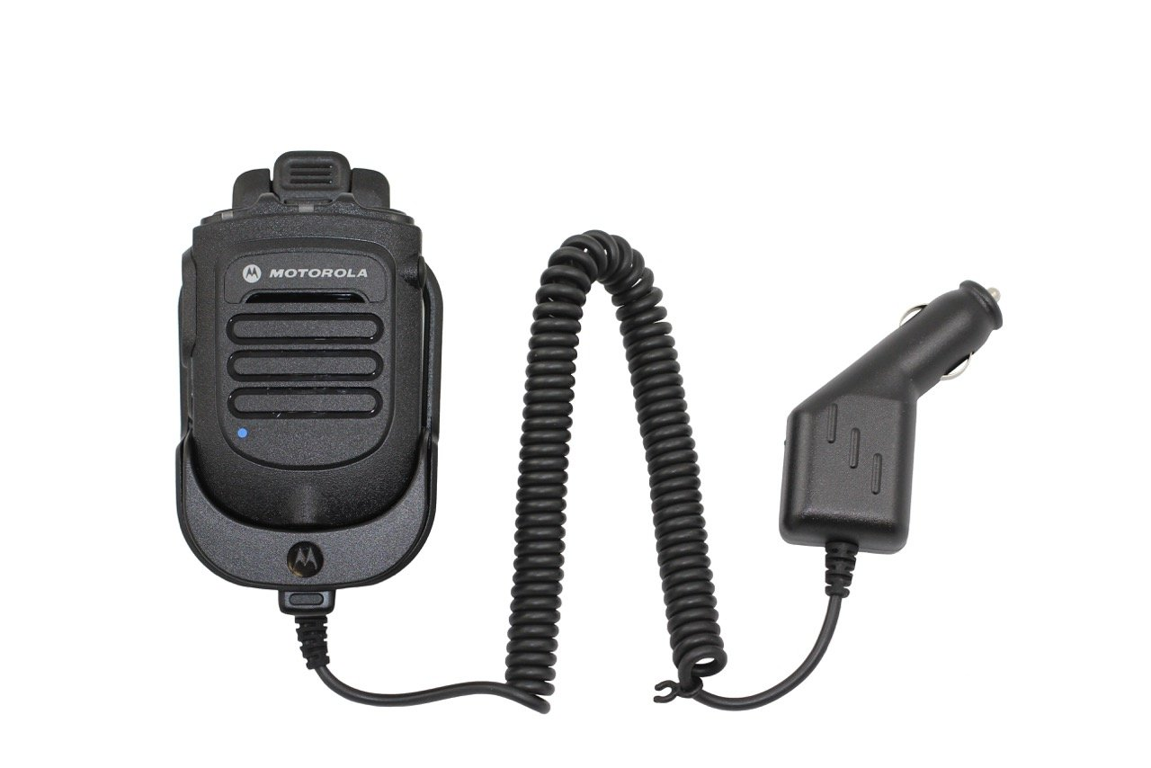 Motorola Original OEM RLN6551 RLN6554A RLN6554 Wireless Remote Speaker Microphone Mic for XPR MOTOTRBO Mobile Radios XPR4300 XPR4350 XPR4380 XPR4500 XPR4550 XPR4580 XPR5350 XPR5380 XPR5550 XPR5580 with vehicle charger by Motorola (Image #1)