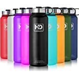 HvDrink Water Bottle Insulated - Cold 24 Hours Hot 12 Hours - 21 OZ - 50 OZ, Stainless Steel Wide Mouth Vacuum Thermos with Medal Strainer