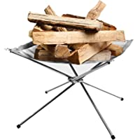 Rootless Portable Outdoor Fire Pit : Collapsing Steel Mesh FirePlace - Perfect for Camping, Backyard and Garden - Carrying Bag Included