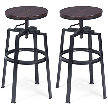 Pleasant Amazon Com Lotus Analin Set Of 2 Vintage Bar Stool Onthecornerstone Fun Painted Chair Ideas Images Onthecornerstoneorg