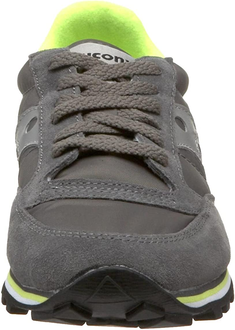 Saucony Originals Women's Jazz Low Pro Fashion Leather Sneaker Gray Lime