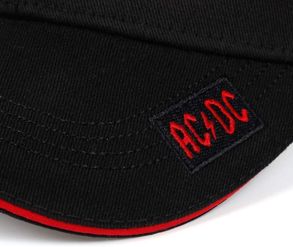 UKKO gorra de b/éisbol gorra de b/éisbol modo sombrero protecciones casuales ACDC bordado sol sombrero Hip Hop al aire libre