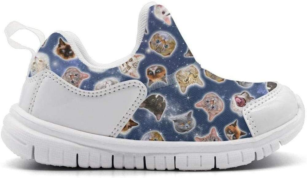 ONEYUAN Children Space Galaxy Cats Kid Casual Lightweight Sport Shoes Sneakers Walking Athletic Shoes