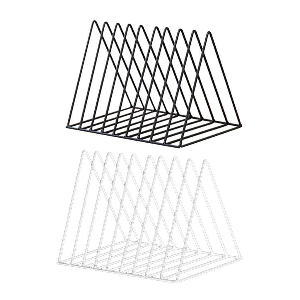 B Blesiya 2pcs Triangle Desk Book Holder Modern Minimalist Bookshelf for Home Office