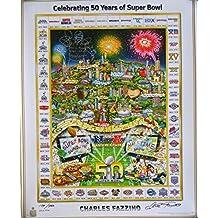 Joe Montana Signed Super Bowl 50 27x34 Lithograph w/3 Insc159/500 - Steiner Sports Certified - Autographed NFL Art