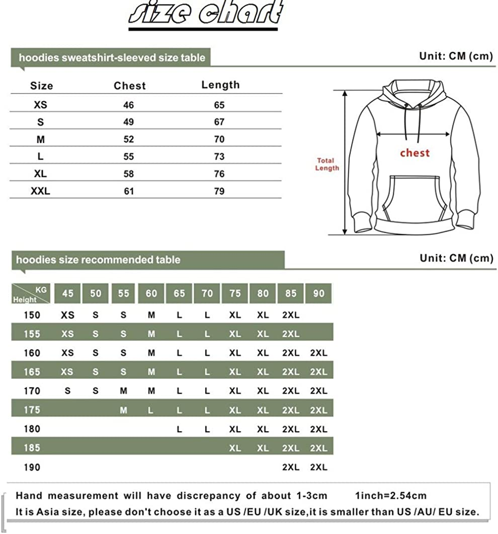 JALYCOS Unisex 3D Printed Hoodies,Pullover Sweatshirts with Pockets Thin Coat for Kid//Audlt