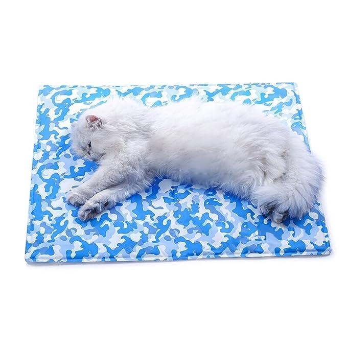 Lh Alfombrilla para Mascotas Cool Cooling Ice Pad Cooler Cama para Dormir De Verano Mascotas Mascotas Alfombra De Hielo Gato Summer Cooling Mat (Tamaño ...