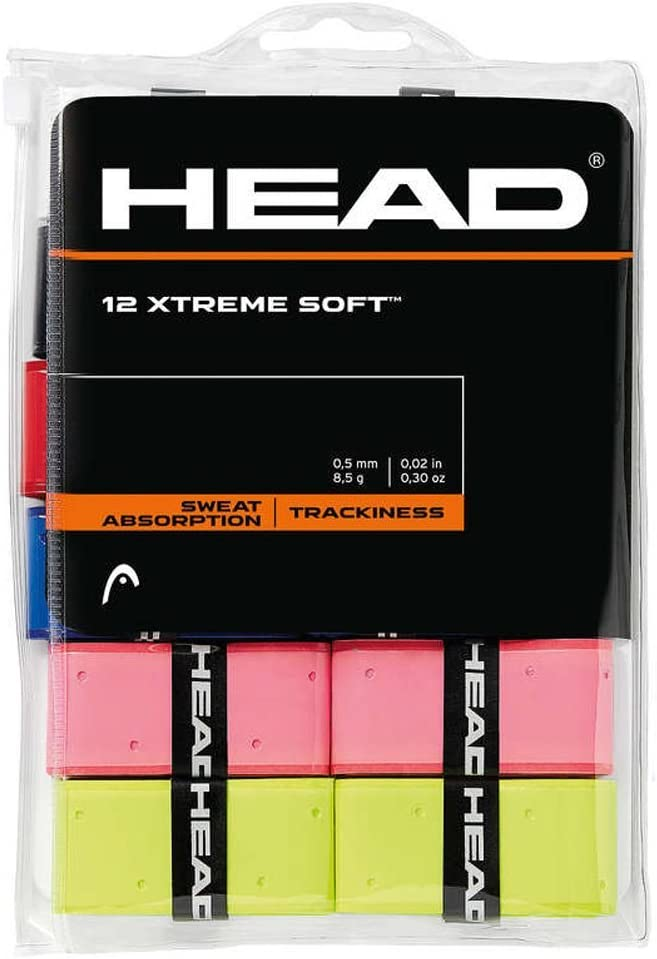 Head 12 Overgrip Xtreme Soft Tenis Grips Cinta para Mango de Raqueta de Tenis