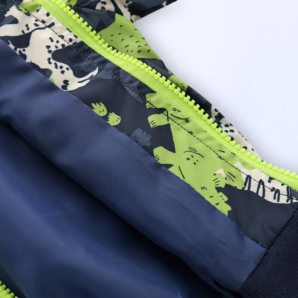 Amazon.com: FIged Baby Outerwear, Baby Long Sleeve Dinosaur Windproof Zip Winter Coat Jacket: Clothing