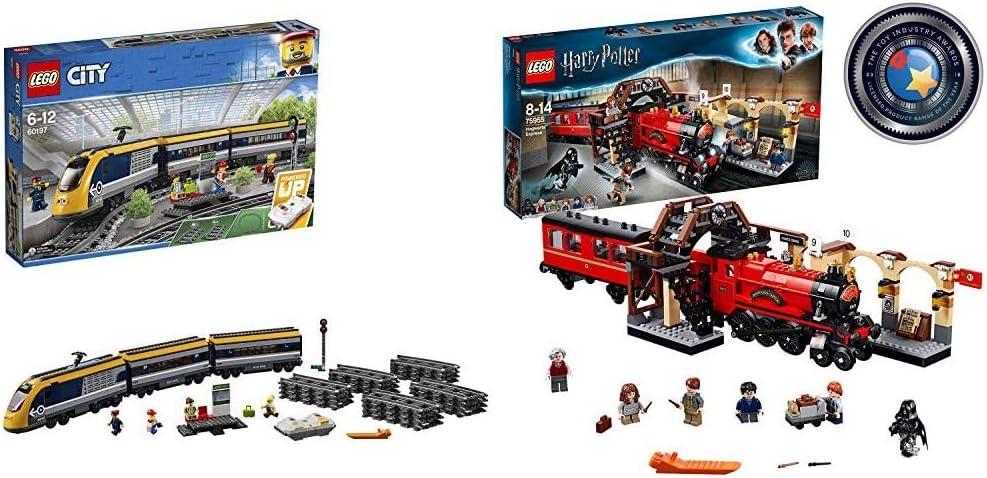 LEGO City - Tren De Pasajeros, Maqueta de Juguete Ferroviario con Control Remoto por Bluetooth + Harry Potter - Hogwarts Express, Tren de Juguete y ...