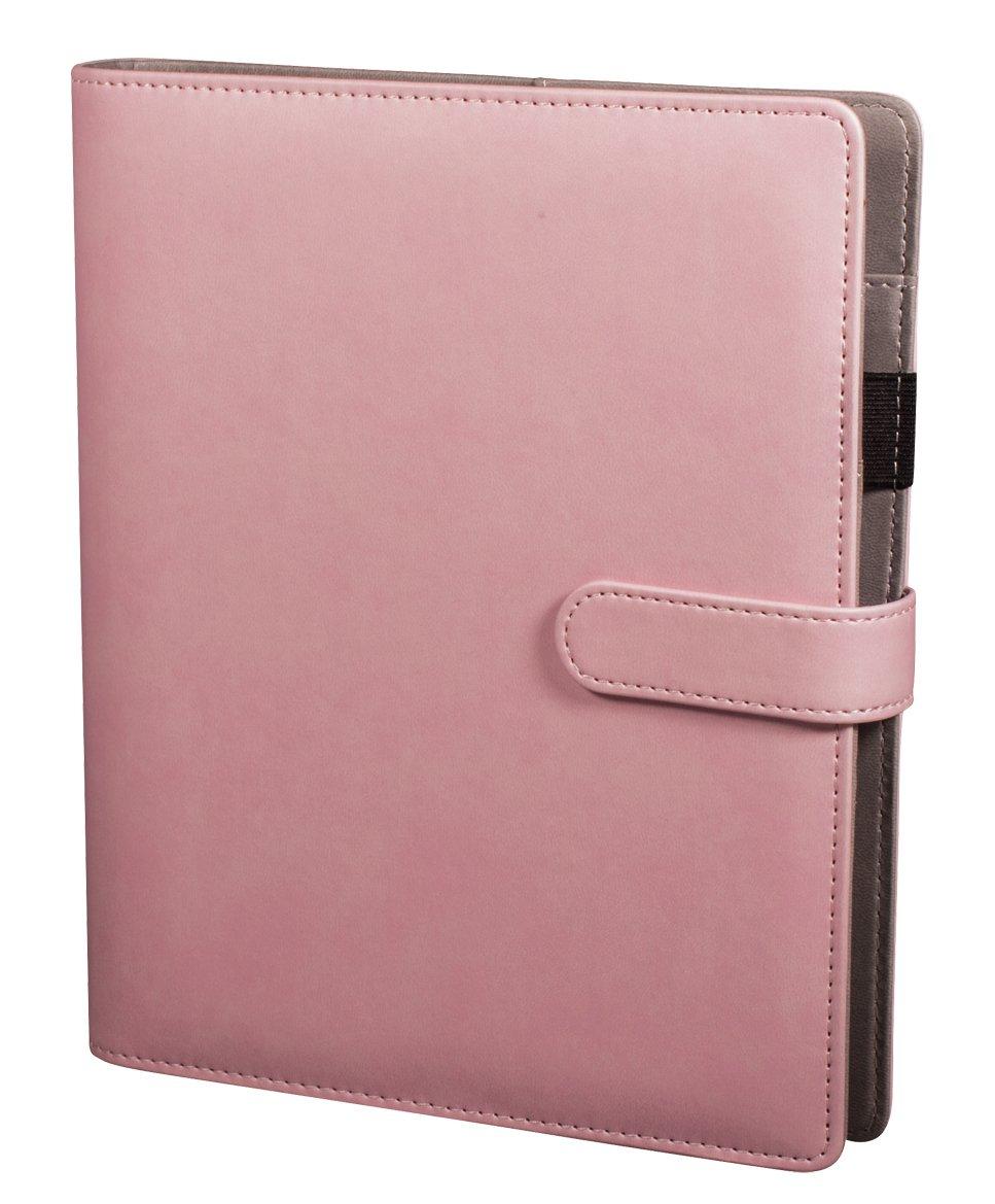Rayher Planer A5, Kreativer Terminkalender mit 3er Ringschiene und Register, Jahreskalender weiß/rosa mit Marmormuster Rayher Hobby GmbH 60773000