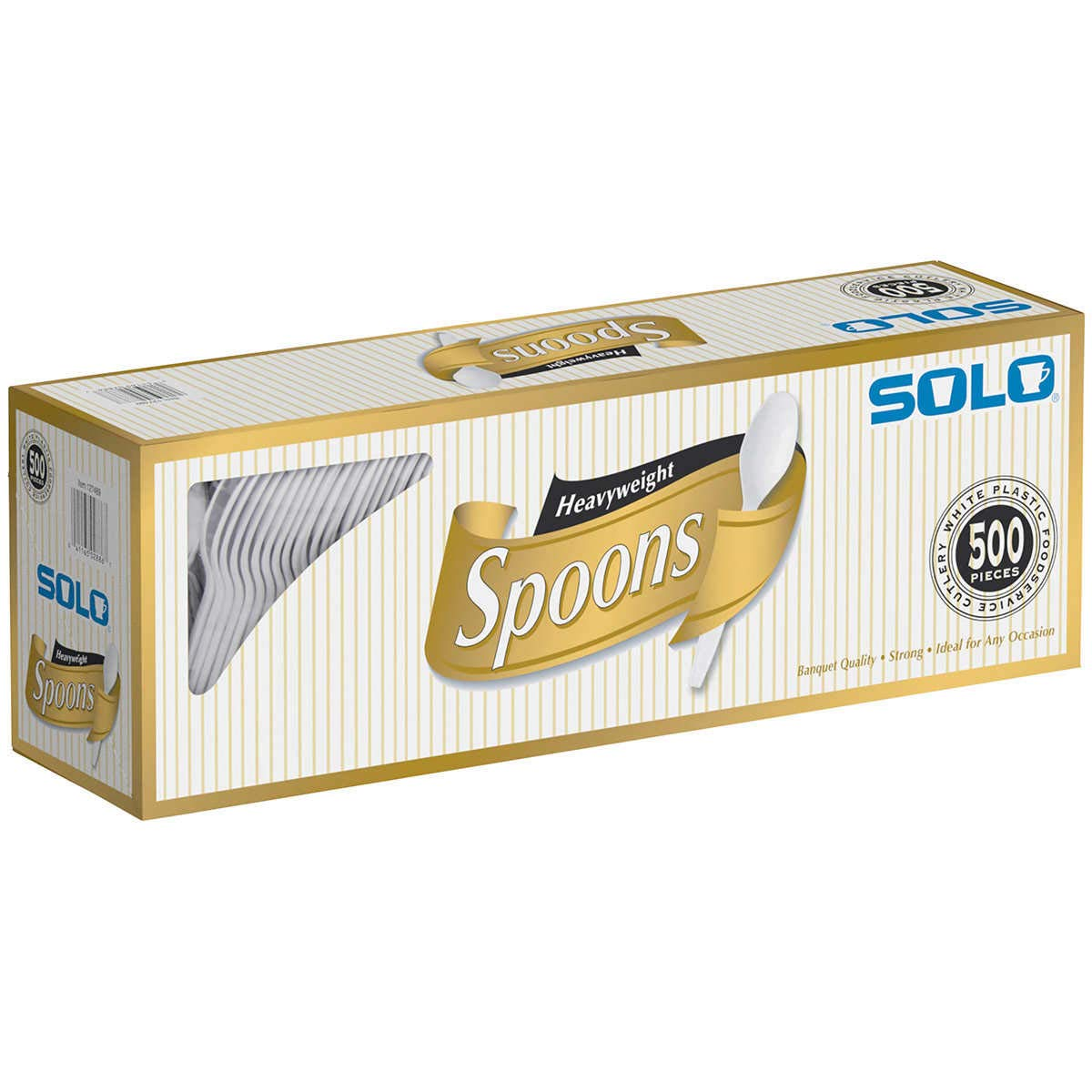 Solo Plastic Spoon White 500ct, Pack of 1, spoons-500