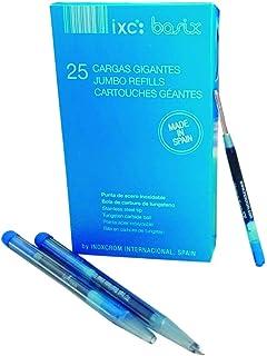 30 Piezas de Recambio de Bolígrafos de Bola Reemplazable Relleno de Metal de Pluma Recambios de Bolígrafos de Punta de Boda de Escritura (Azul): Amazon.es: Oficina y papelería