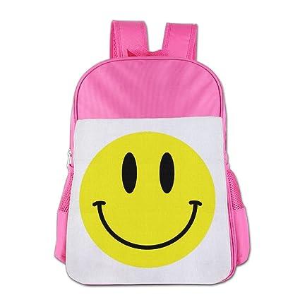DFADS Mochila Escolar Infantil Smiley Face Emoji Book Bags